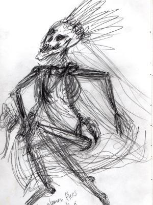 Skeleton woman flees her wedding