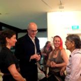 with Paul Northam and artists Barb Sparks, and Aunty Rochelle Patten